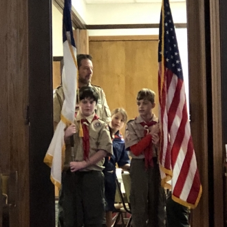 Veterans Day Boy Scouts Flags